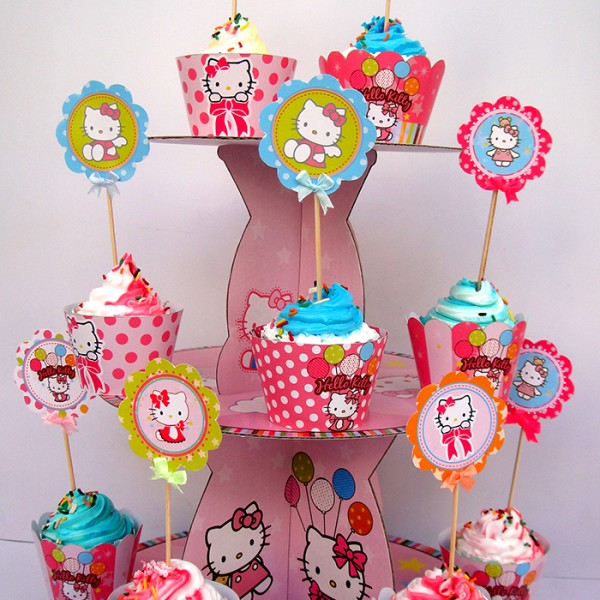 thap - banh - cupcake - chu - de - kitty