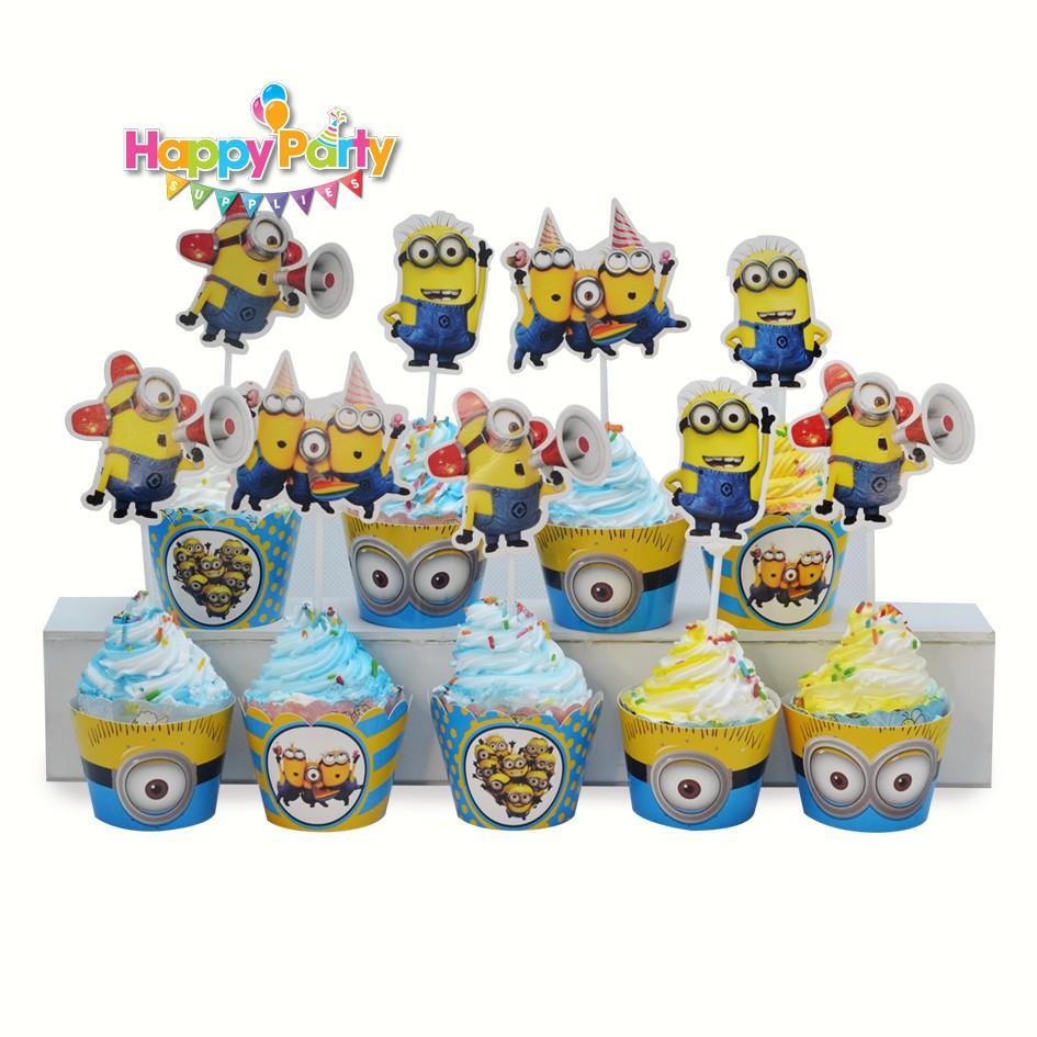 tem-cam-banh-cupcake-chu-de- minion shopphukiensinhnhat.com