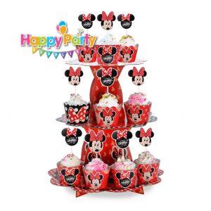 tháp đựng bánh cupcake mickey đỏ shopphukiensinhnhat.com