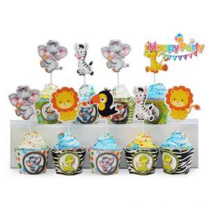 tem-cam-banh-cupcake-chu-de- safari shopphukiensinhnhat.com