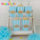 shopphukiensinhnhat.com Hộp bắp rang bơ Set xanh dương Gold Kim Tuyến