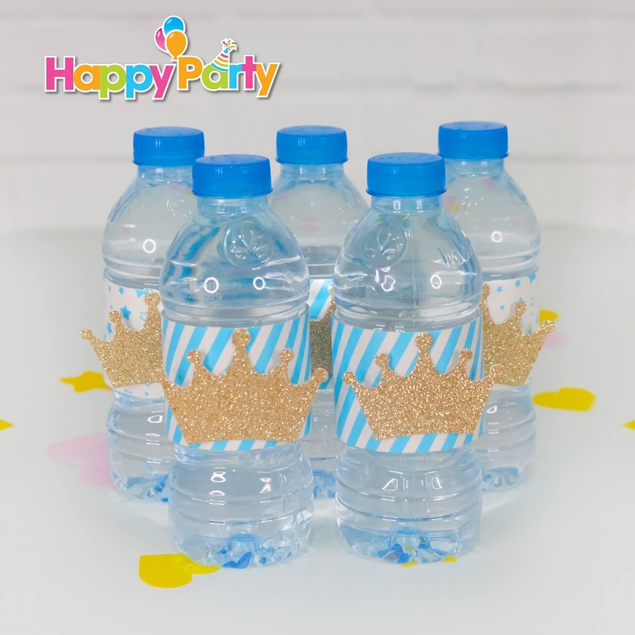 shopphukiensinhnhat.com Hộp quà sinh nhật Set xanh dương Gold Kim Tuyến