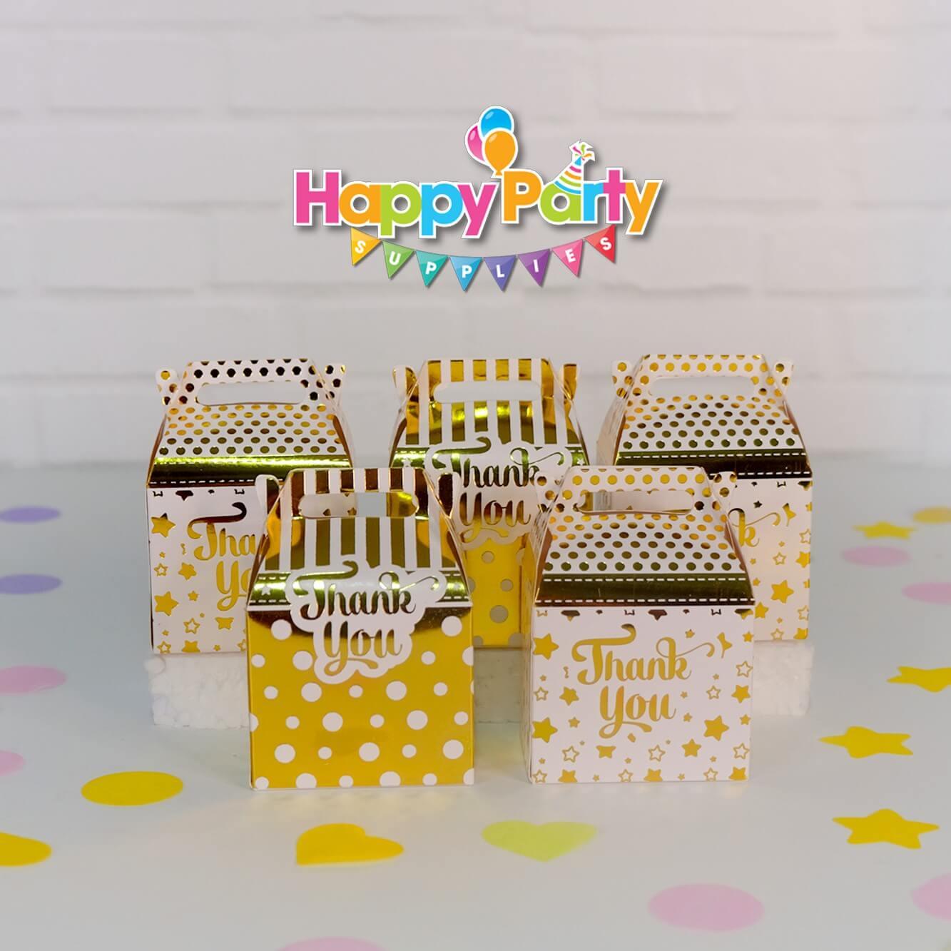 Set Gold ép kim hộp đựng quà sinh nhật shopphukiensinhnhat.com