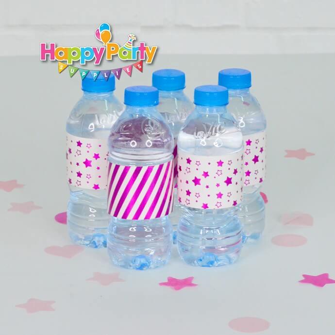 Set hồng ép kim giấy dán chai nước shopphukiensinhnhat.com