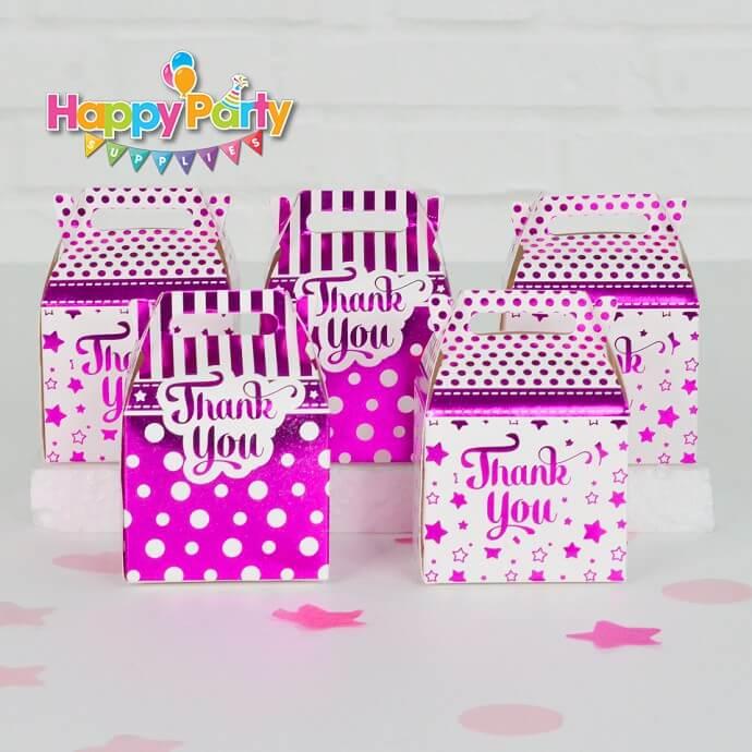 Hộp quà sinh nhật hồng ép kim shopphukiensinhnhat.com