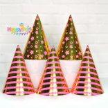 set-hong-gold-ep-kim nón giấy sinh nhật shopphukiensinhnhat.com