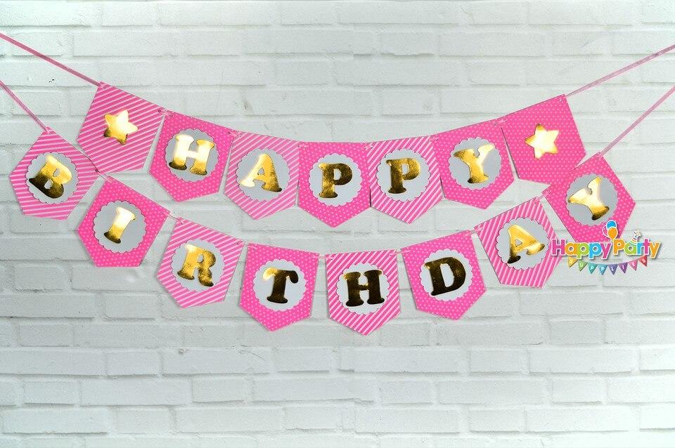 set-hong-gold-ep-kim dây treo sinh nhật shopphukiensinhnhat.com