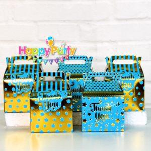 Xanh Dương Gold Ép Kim hộp quà sinh nhật shopphukiensinhnhat.com