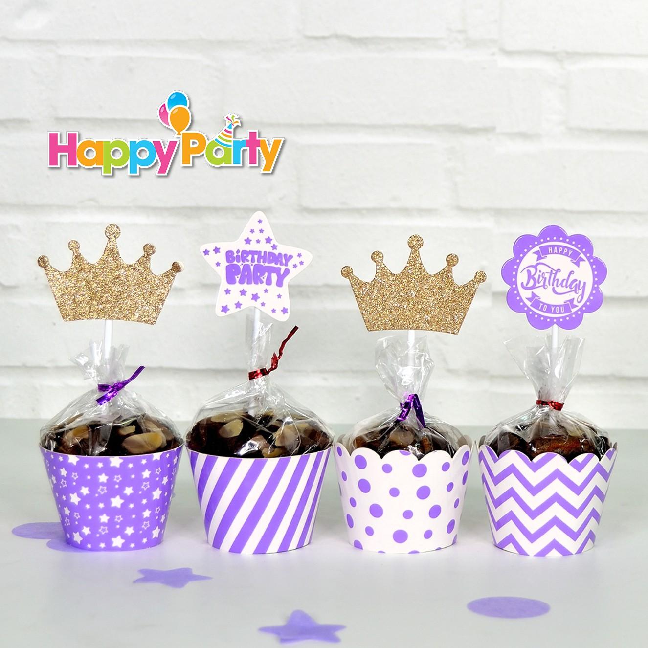 tím gold kim tuyến tem cắm bánh cupcake sinh nhật shopphukiensinhnhat.com