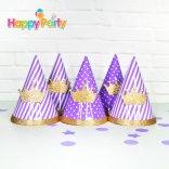 tím gold kim tuyến nón giấy sinh nhật  shopphukiensinhnhat.com