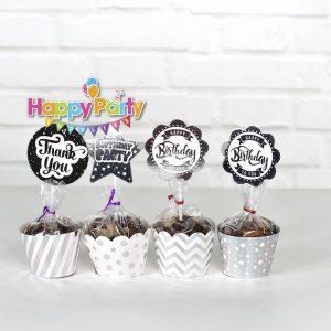 Set silver ép kim tem cắm bánh cupcake shopphukiensinhnhat.com