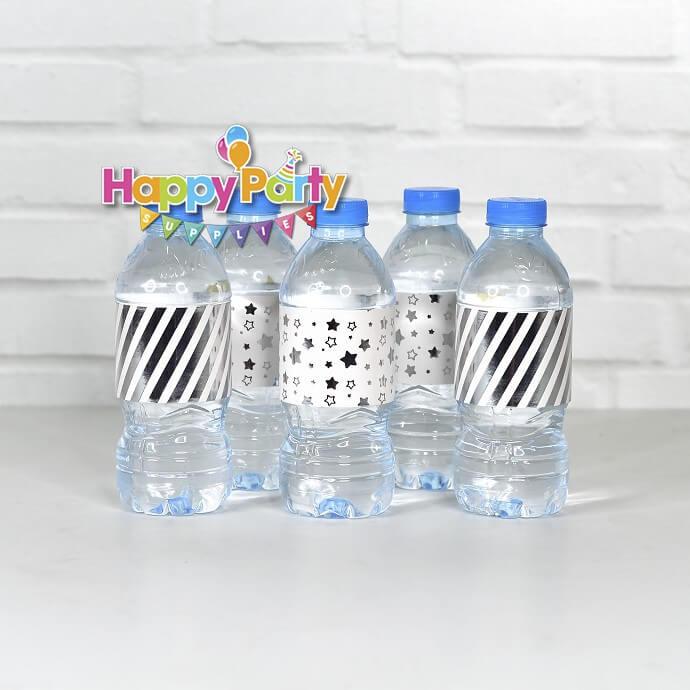 Set silver ép kim giấy dán chai nước shopphukiensinhnhat.com