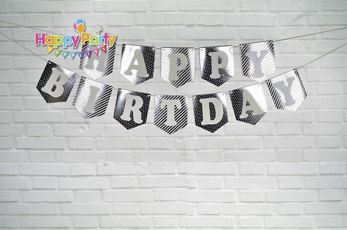 Set silver ép kim dây treo sinh nhật shopphukiensinhnhat.com