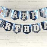 Set xanh dương ép kim dây treo sinh nhật  shopphukiensinhnhat.com
