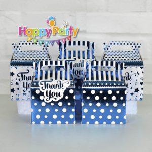 Set xanh dương ép kim hộp đựng quà sinh nhật shopphukiensinhnhat.com