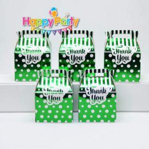 Set xanh lá ép kim hộp quà sinh nhật shopphukiensinhnhat.com