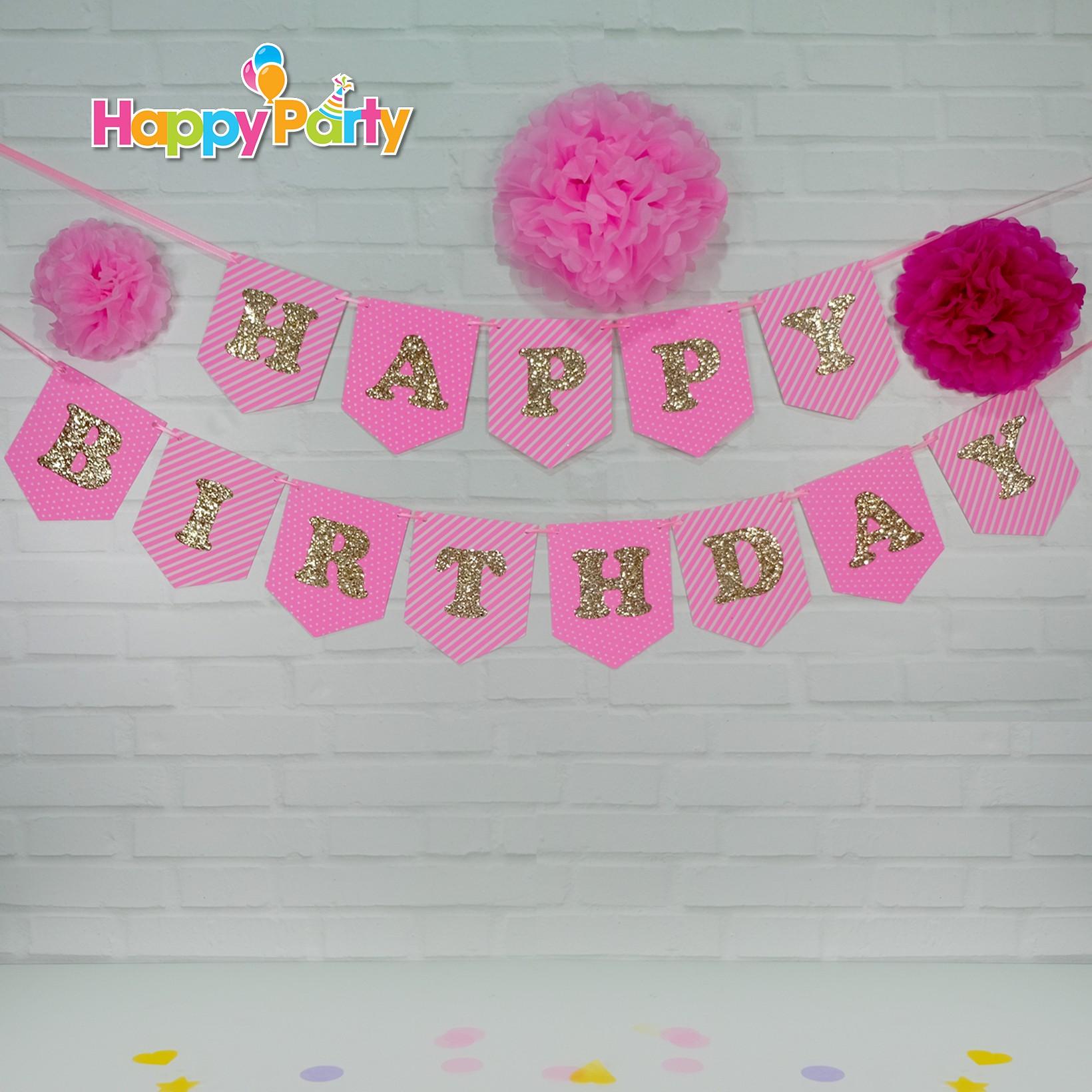 Hồng Gold Ép Kim Tuyến shopphukiensinhnhat.com dây treo sinh nhật