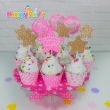 Hồng Gold Ép Kim Tuyến shopphukiensinhnhat.com Tem cắm bánh cupcake