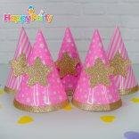Hồng Gold Ép Kim Tuyến shopphukiensinhnhat.com Nón giấy sinh nhật