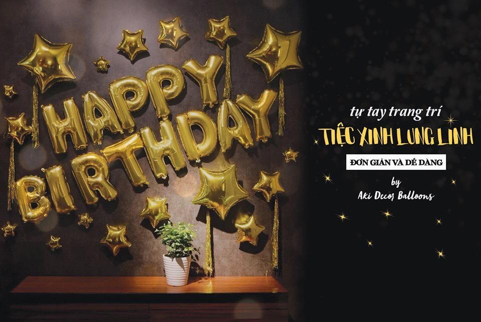 Trang trí sinh nhật đẹp